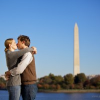 Kissing Washington Monument 200x200 Engagement Session Special!