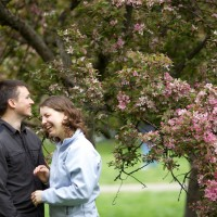 Laughing Beneath the Blossoms
